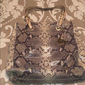 Michael Kors Snakeskin Leather Bag